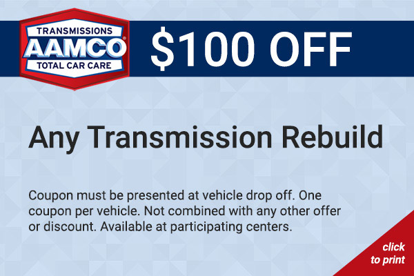 $100 transmission rebuild coupon